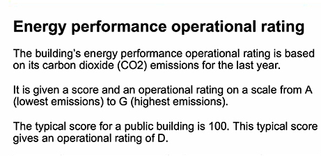Energy Perfomance Operational Rating