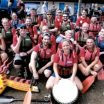 TEAM and EDW Dragon Boat crew